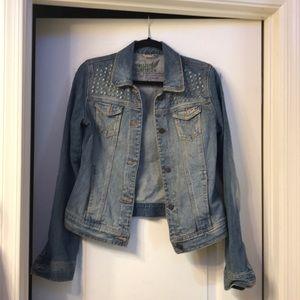 Hollister studded denim jacket